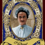 It may seem harsh to cast Wallis Simpson, the American divorcee for whom Edward VII abandoned his throne, as The Devil, but in the Tarot, The Devil represents obsession and the impact of our deepest weaknesses. This is what she was to the King, and in being that, she divided a Kingdom and changed the direction of the monarchy forever.